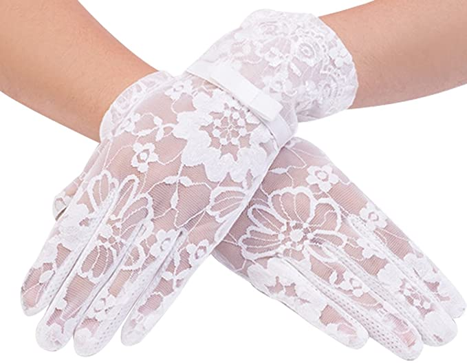 Vintage Style Gloves- Long, Wrist, Evening, Day, Leather, Lace Women Lace Uv Protection Gloves Summer Short Driving Gloves Touch Screen $8.99 AT vintagedancer.com