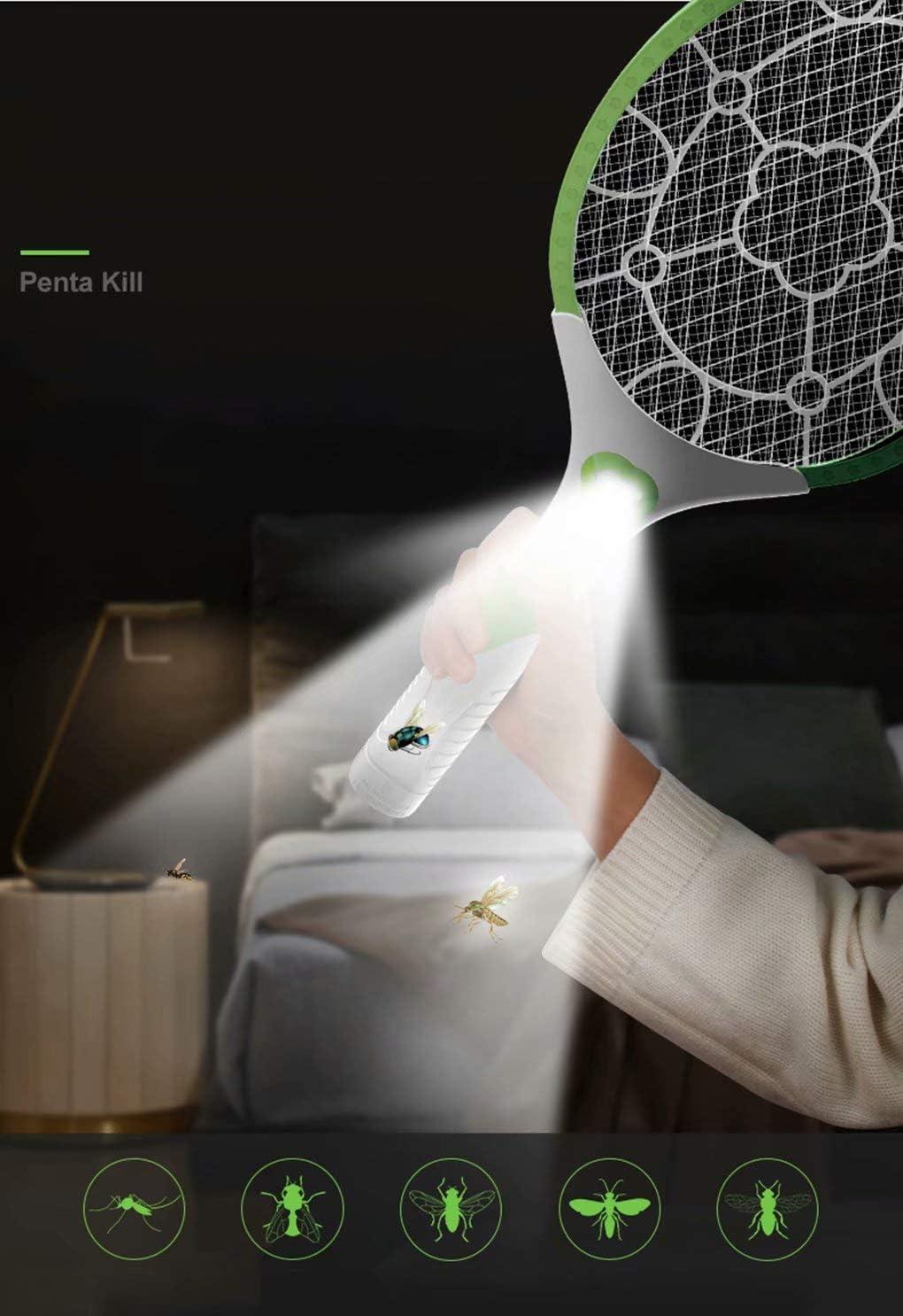 HSTFⓇ Moustique Rechargeable ZAP IT 880mAh tapette /à Mouche//Tueur et Raquette Bug Zapper - Bug Zapper Les lumi/ères tr/ès Brillantes disparaissent dans Le Noir