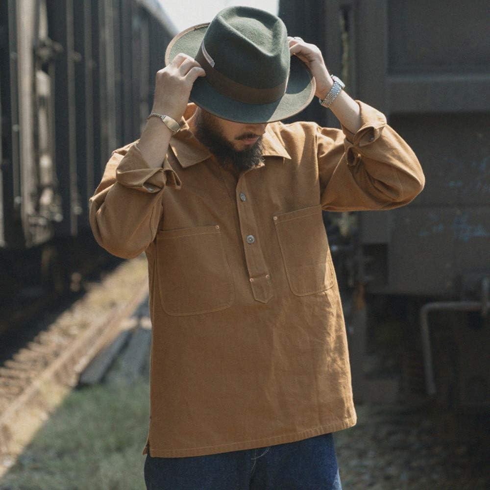Victorian Men's Shirts- Wingtip, Gambler, Bib, Collarless VTGDR Bronson California Gold Rush Jumper Mens Workwear Shirts $98.99 AT vintagedancer.com