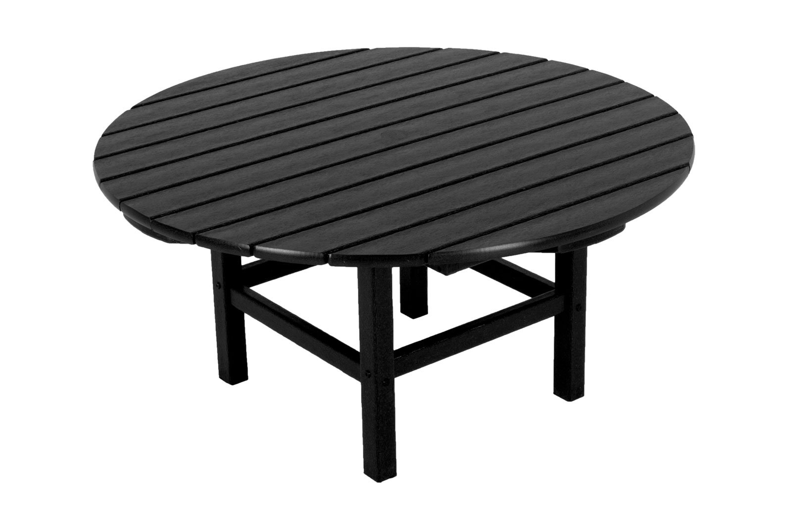 POLYWOOD RCT38BL Round 38'' Conversation Table, Black