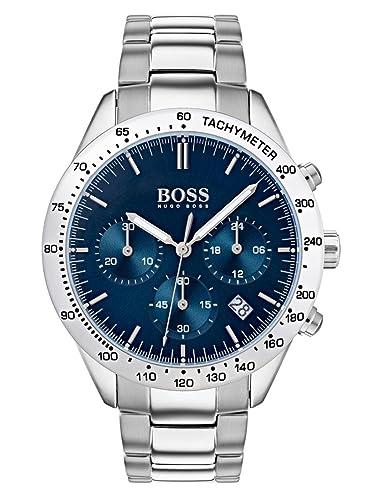 Hugo BOSS Reloj Cronógrafo para Hombre de Cuarzo con Correa en Acero Inoxidable 1513582: Amazon.es: Relojes