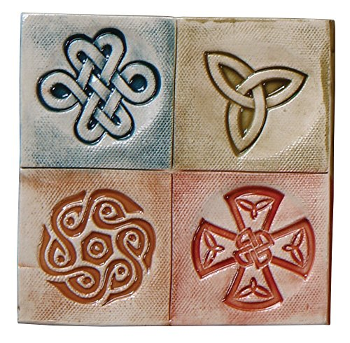 Mayco Celtic Design Press Tool Set, 1-3/4 in Dia, Set of 4