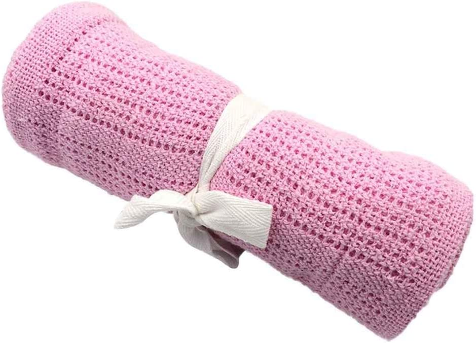 Willlly Manta De Recepción para Tejer Casual para Chic Bebés Recién Nacido Swaddler Crochet Envoltura De Pañales para Bebés Paño De Saco De Pañales para Bebés (Color : Rosa, Size : Size)