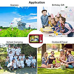 HD Mini Digital Camera with 2.7 Inch TFT LCD Display,Kids Childrens Point and Shoot Digital Video Cameras Red--Sports,Travel,Holiday,Birthday Present from Yasolote