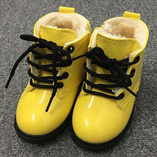 Baby Schuhe Clode® Winter Baby Jungen Mädchen Kind Buchstabe Armee Art Martin Aufladungen warme Baumwoll schuhe Gelb