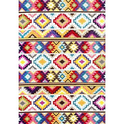 NuLOOM Lizmar Retro Rug, 8 X 5u0027, Multicolor