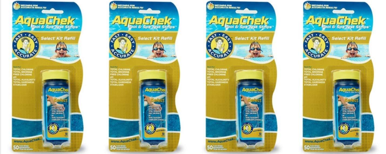 AquaChek 541640A Select Refills Test Strip for Swimming Pools (4-Pack) by AquaChek