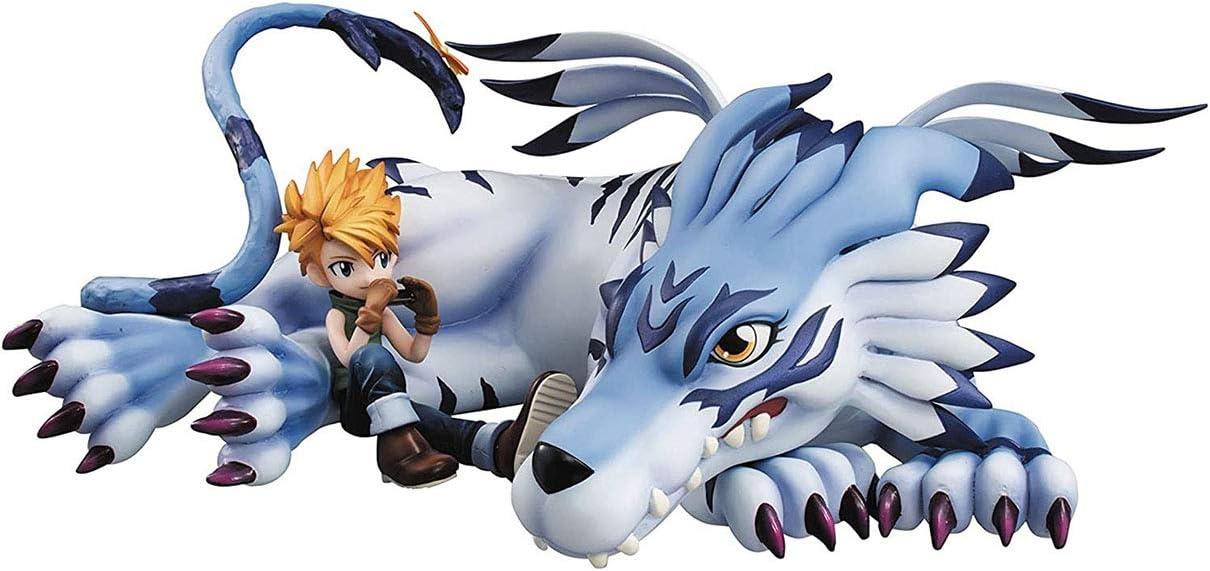 Garurumon /& Yamato GEM Action PVC Figure Toy Digimon Adventure