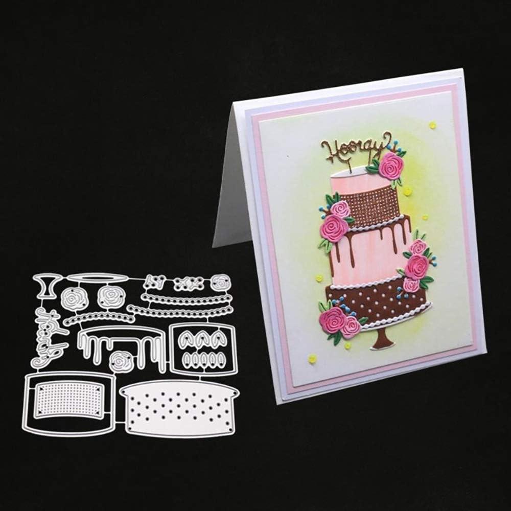 Fine Amazon Com Birthday Cake Metal Diy Cutting Dies Stencil For Personalised Birthday Cards Sponlily Jamesorg