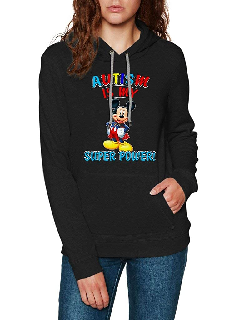Funny Vintage Trending Awesome Gift Hoodie Mickey Mouse Autism is My Super Power