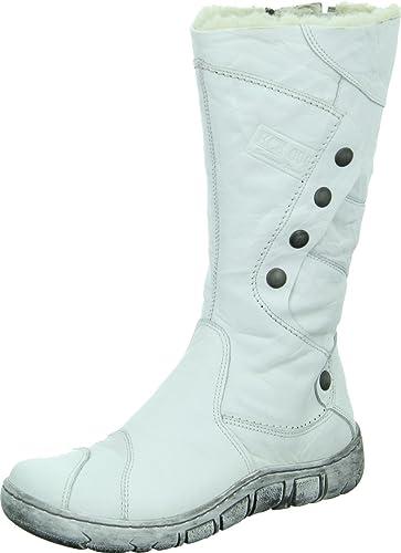 Kacper 4 0121 Damenschuh Stiefel Stiefelette Winterboots Warmfutter Echtleder Farbe: Weiß