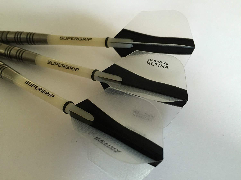 Supergrip Stems METEOR Supergrip Tungsten Darts Set 27g or 30g Harrows Retina Flights