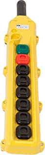 product image for KH Industries CPH08-A3C-000A 8 Push Buttons Pendant Control Switch, Momentary On/Off, 3-Single Speed