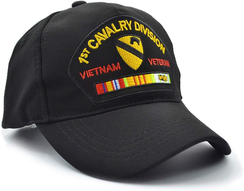 Outdoor Sports Jogging Hat,Adjustable MEGE 1st Cavalry Division Army Cap for Fishing Sombrero Gorra de Pesca
