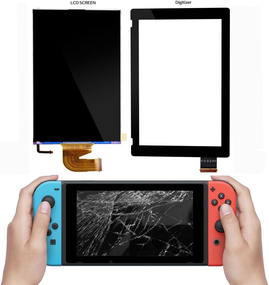Pantalla LCD y digitalizador para Nintendo Switch, COCOTOP piezas de repuesto Accesorios Sets visualización de pantalla y pantalla táctil lente de vidrio para Nintendo Switch Gamepad Controller: Amazon.es: Videojuegos