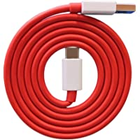RSC POWER+ Compatible Dash/Warp Data Sync Fast Charging Cable Supported for All C Type Devices (Red and White)