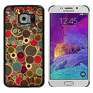 Paccase / Dura PC Caso Funda Carcasa de Protección para - Retro Art Painting Dots Spots Colors Vintage - Samsung Galaxy S6 EDGE SM-G925