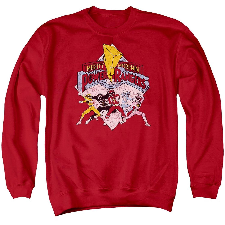 Amazon.com: Power Rangers Retro Rangers Mens Crewneck Sweatshirt ...