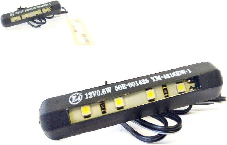 Led Kennzeichenbeleuchtung E Geprüft 4 Leds 12v 0 6w Für Roller Mofa Motorrad Auto