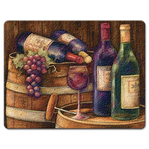 Highland Graphics Wine Cellar Tempered Glass Cutting Board, 15 by 12-inch