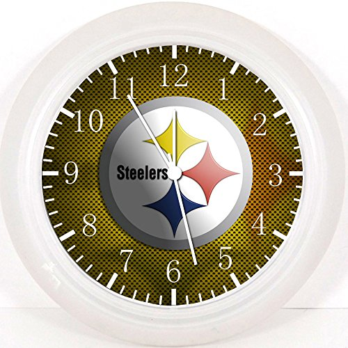 """Steelers Wall Clock E423 Nice For Gift or Home Office Wall Decor 10"""" from SteelerMania"""