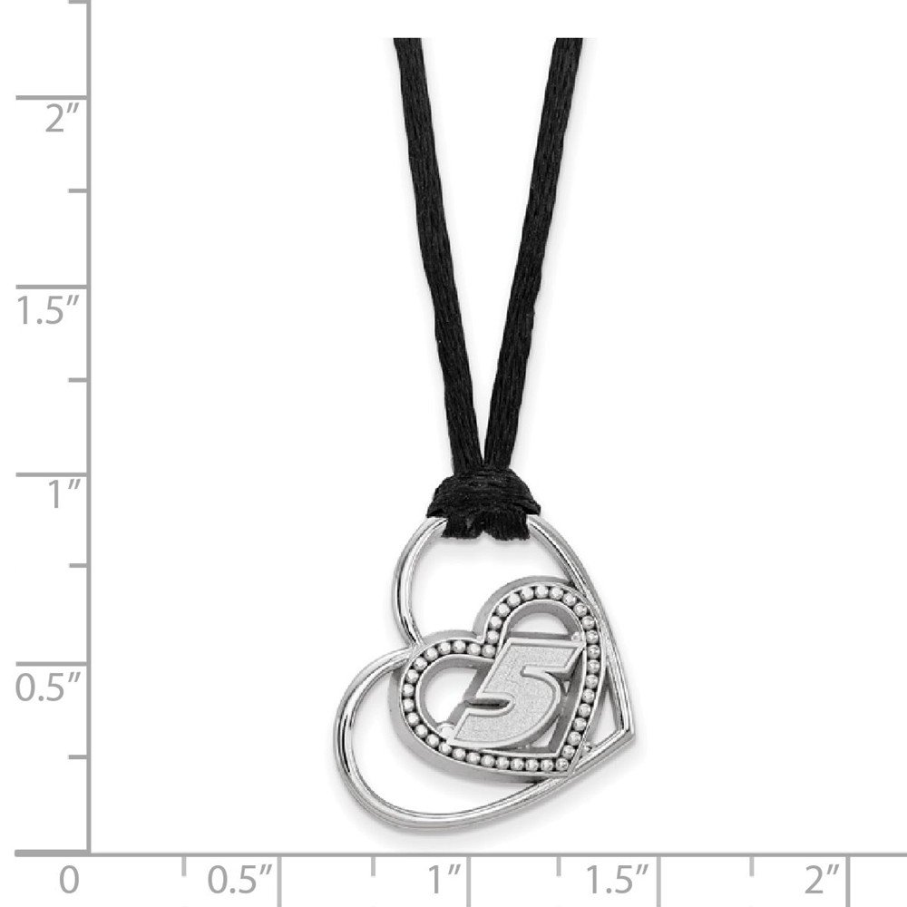 20mm x 18mm Solid 925 Sterling Silver Pierced Heart Pattern with Driver #5 Pendant