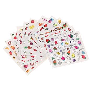 d dolity verschiedene obst muster kunstngel sticker nail art aufkleber deko fr kunstnagel lieber - Kunstnagel Muster