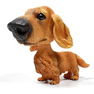 COGEEK Bobble Head Dogs Bobbing Heads Car Dash Puppy Car decoration (Dachshund)
