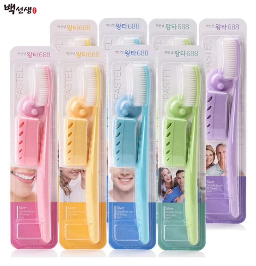 WANGTA Giant Toothbrush 688 Premium Big Size Toothbrush Set, Dental Care 8 Pieces + Cover + Hanger
