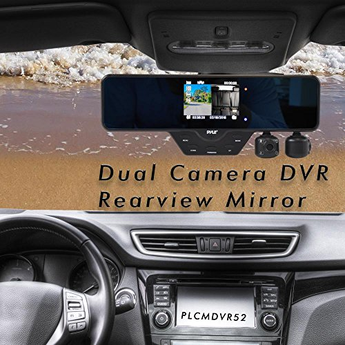 Upgraded Pyle Dual Dash Cam Car Dvr Hd 1080p 3 5 Quot Lcd