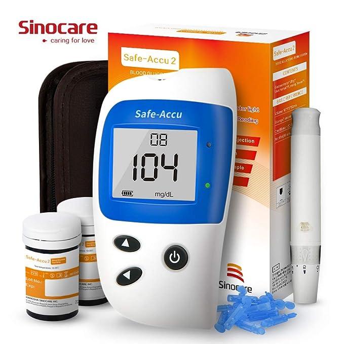 Glucosa en sangre kit de control de la diabetes kit Safe Accu2 de prueba de azúcar en sangre kit Codefree Pack 50 tiras para diabéticos-en mg/dL: Amazon.es: ...