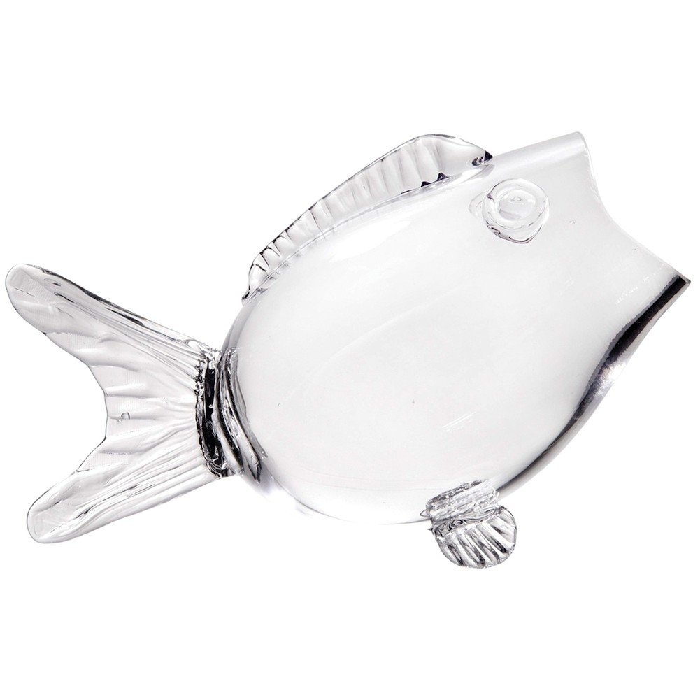 Clear Glass Fish Bowl, 10 Inches