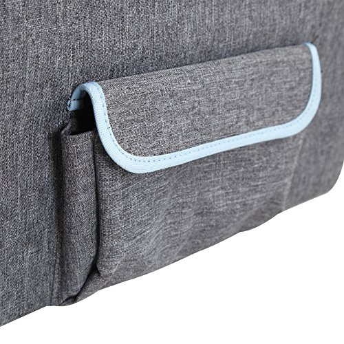 Petsfit Pet Booster Seat/Lookout Car Seat for Small Dogs and Cats up to 15 Pounds,With Pockets (Gray) 15''Lx16''Wx14''H Small by Petsfit (Image #7)