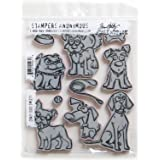 Stampers Anonymous Dritz Notions SPATHCMS.271 StampersA Cling Stamp THoltz Crazy Dogs