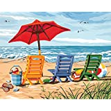 Dimensions Needlecrafts Paintworks Paint By Number, Beach Chair Trio
