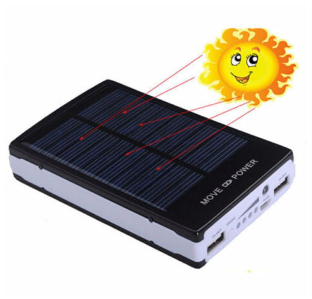 50000mAh Dual USB Portable Solar Battery Charger Power Bank For Cell Phone