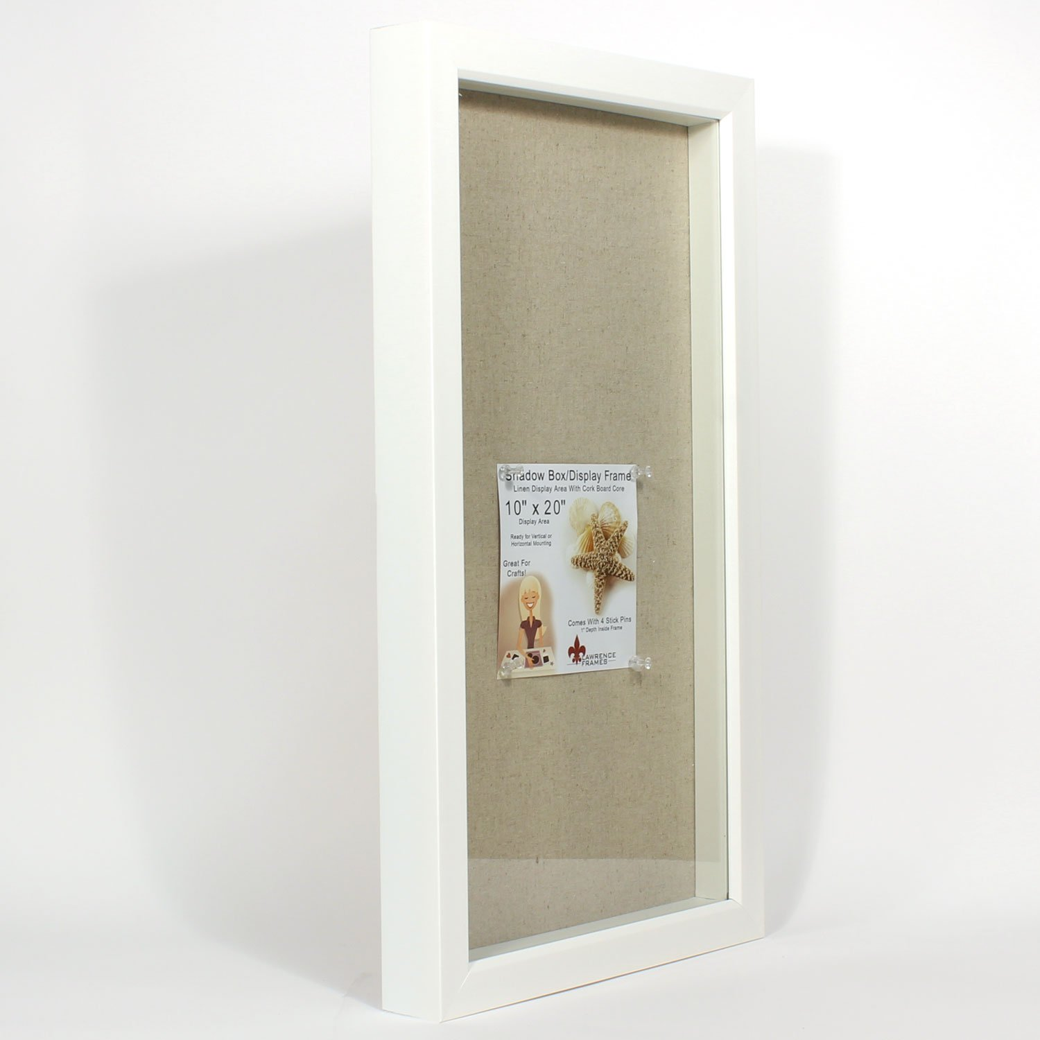 amazoncom 10x20 white shadow box