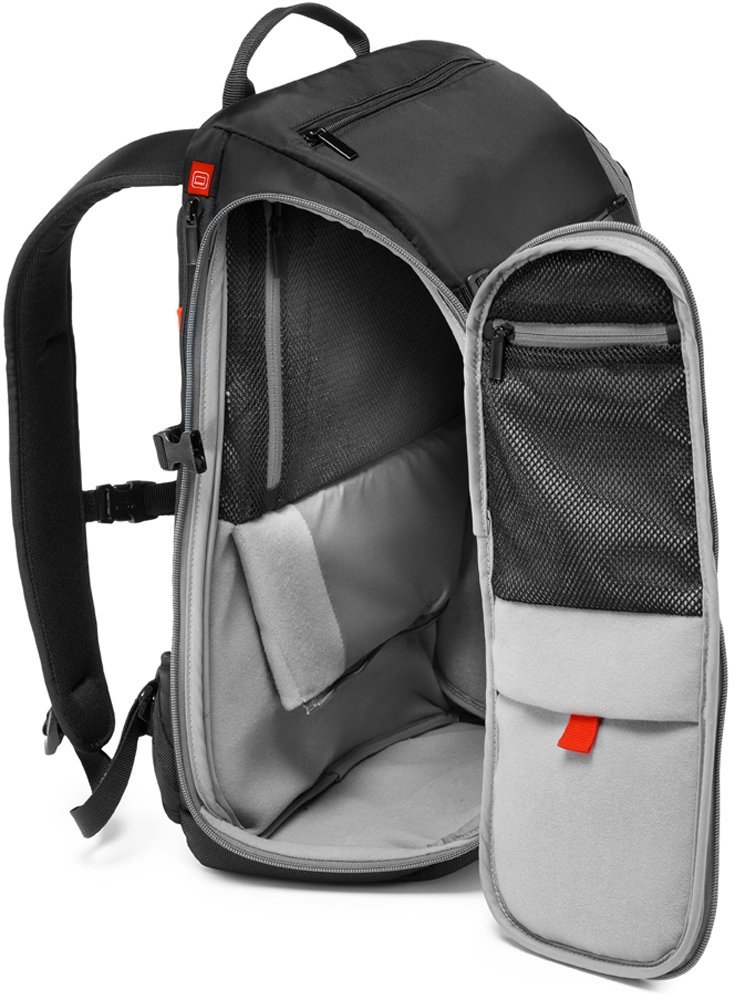 9a58d7f6ea Amazon.com   Manfrotto MB MA-TRV-GY Advanced Travel Backpack (Grey)    Camera   Photo