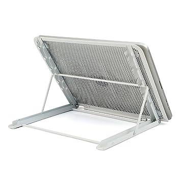 VANRA Soporte de malla metálica para tableta, soporte ajustable para ordenador portátil, bandeja de escritorio plegable, soporte de base: Amazon.es: Hogar