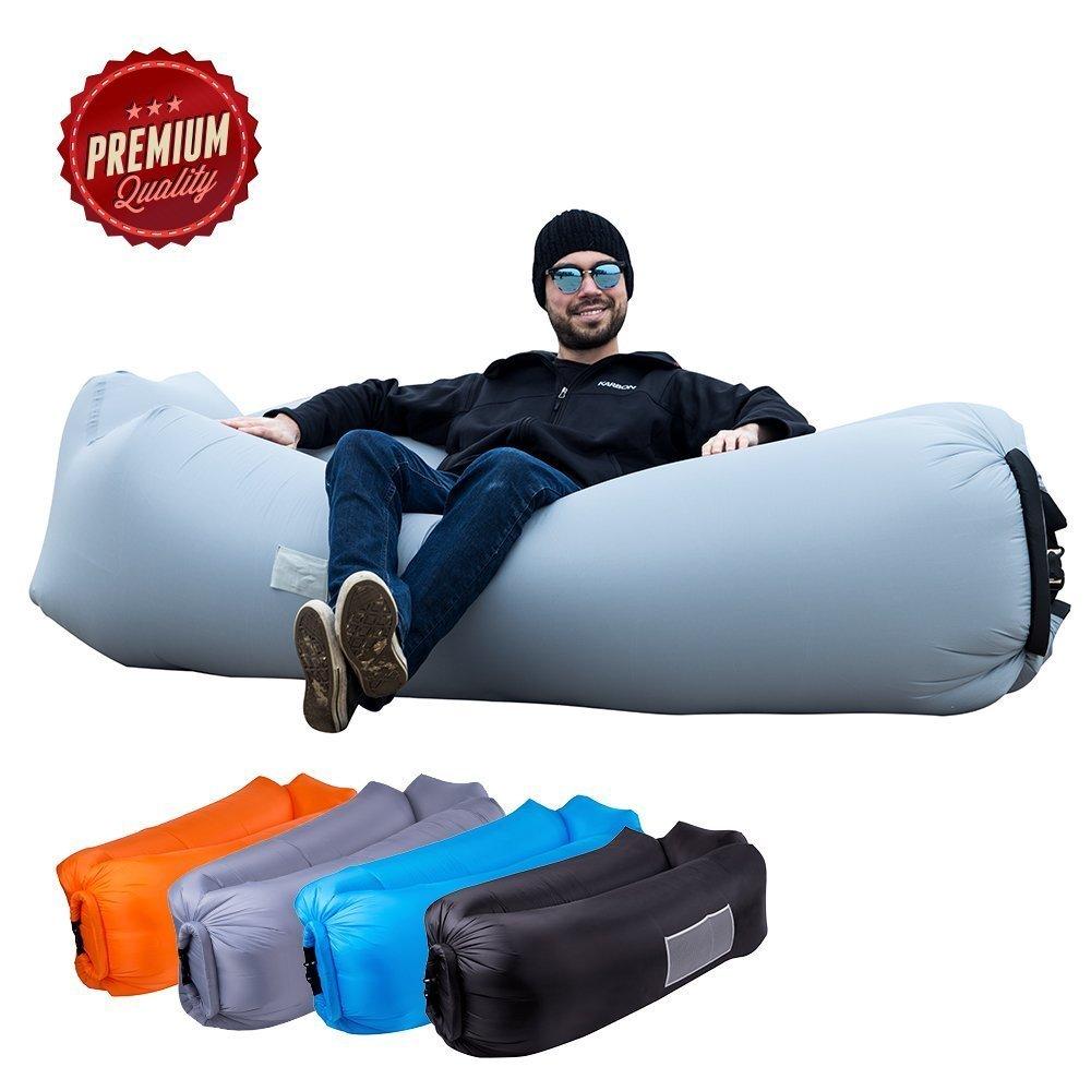 ORSEN Sofa gonflable, canapé gonflable imperméable à l'eau, chaise longue hamac gonflable avec sac de transport et pour intérieur ou extérieur, voyage, camping, fête, mer, jardin ou plage product image