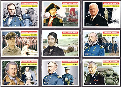 Military Leaders 2008/2009 Topps American Heritage***A Great Teaching Tool**** (10)
