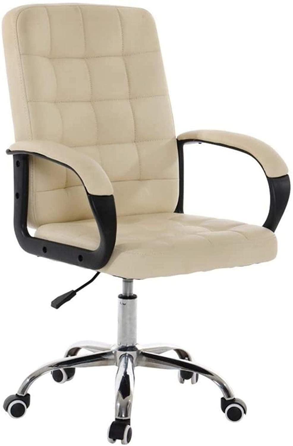 HTL Comfortable Lift Swivel Chair Office Chair Can Reduce Back Pain Air Lift Chair Height Can Adjustment and Lock Kneeling Chair,Beige