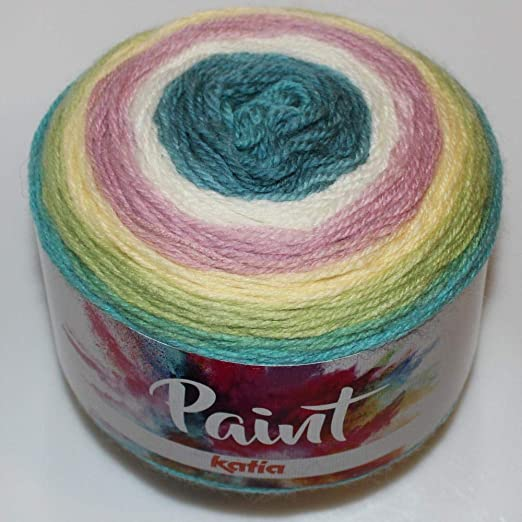Lanas Katia Paint Ovillo de Color turqui: Amazon.es: Hogar