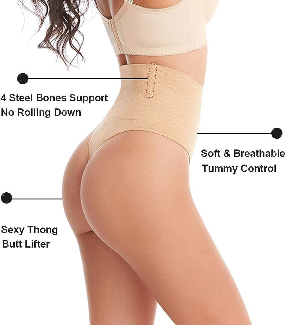 AtRenty Thong Shapewear for Women Butt Lifter Tummy Control Panties Skims Body Shaper Seamless Slimmer