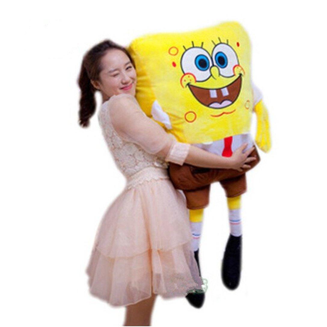 Super Soft Fabric 39'' 1M Squarepants Spongebob Figure Plush Toy Stuffed Cuddle Pillow by SpongeBob SquarePants