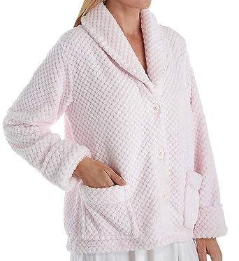 0b08df8652f3f La Cera 100% Polyester Honeycomb Fleece Bed Jacket (8825) at Amazon ...