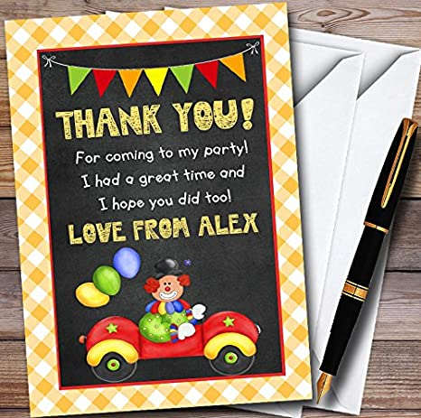 Amazon.com: Payaso en coche personalizable para niños fiesta ...