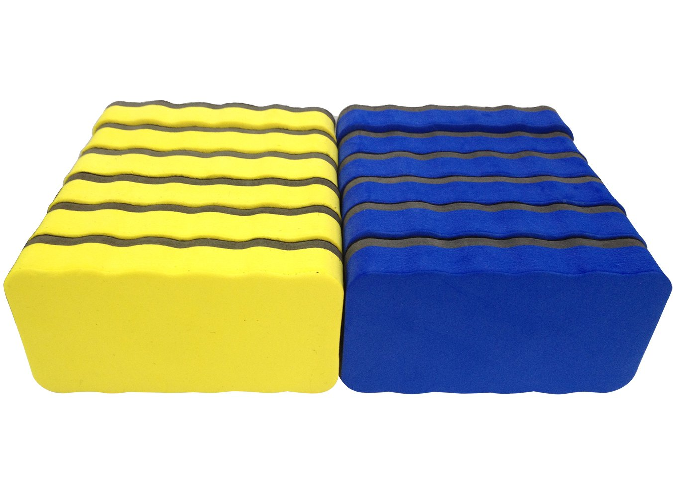 Attmu Magnetic Whiteboard Dry Erasers, 12 Pack - 6 Blue and 6 Yellow, 2.2 x 4 Inches Each by Attmu (Image #5)