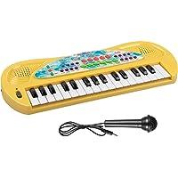 Aimedyou Kids 32 Keys Portable Electronic Piano Keyboard (Yellow)