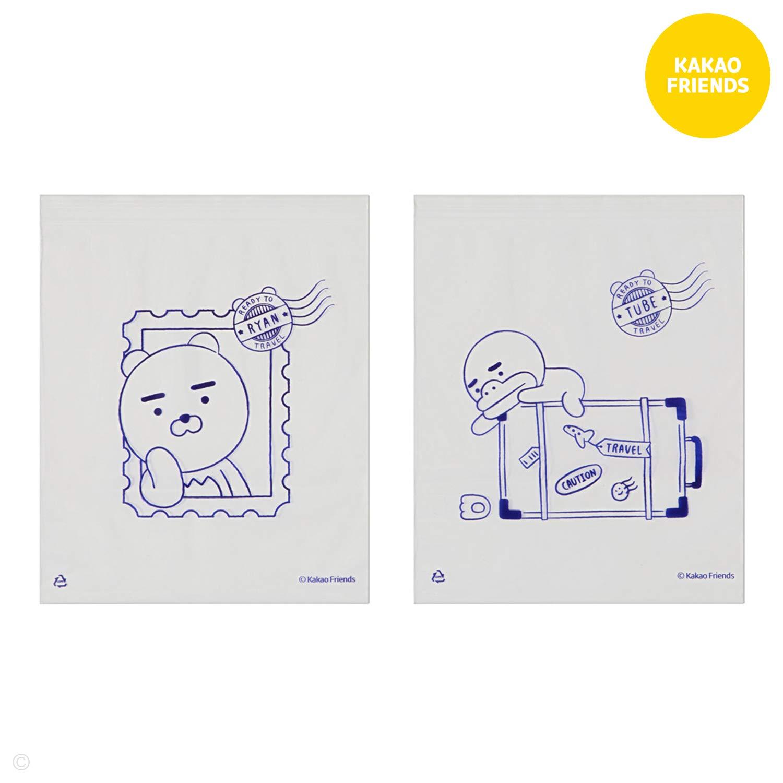 KAKAO FRIENDS Porte-Passeport Couverture Portefeuille Voyage Case Poches Multi Mignon de caract/ères 19.2 x 13.5 cm Petit Apeach